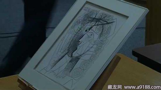 毕加索的素描画《女人头像》顺手牵羊偷走了.结果他的偷窃过高清图片