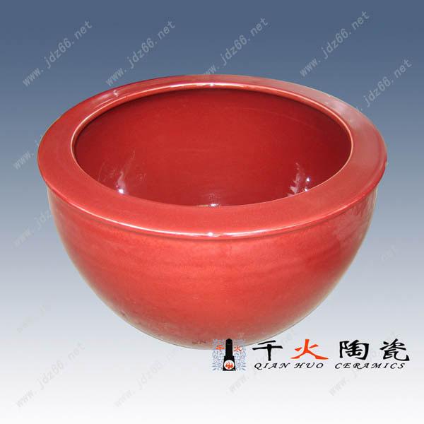 1红釉高档陶瓷大缸DJDGQQZIP001..