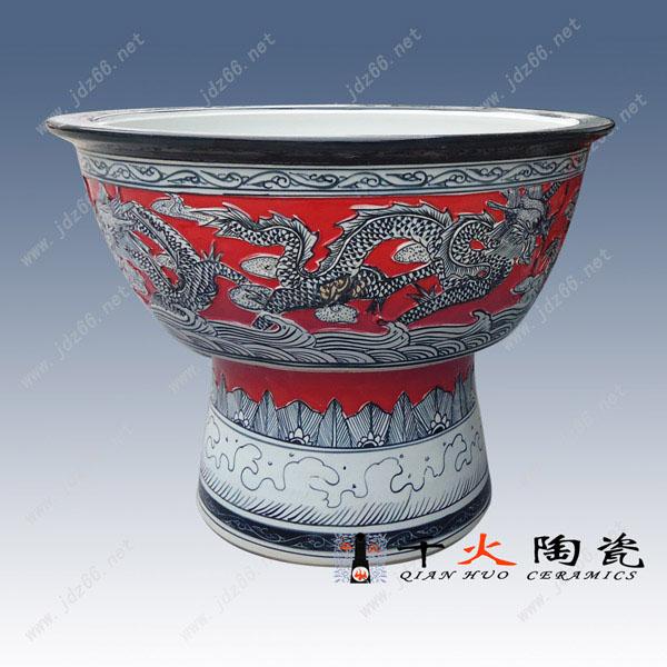 49红釉雕龙陶瓷大缸DJDGQQGBQ04..